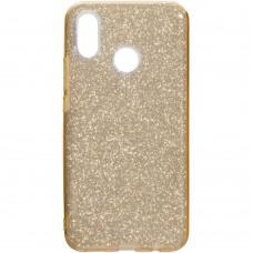 Силиконовый чехол Glitter Huawei P Smart Plus / Nova 3i (золотой)