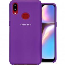 Силиконовый чехол Original Case Samsung Galaxy A10s (2019) (Сиреневый)