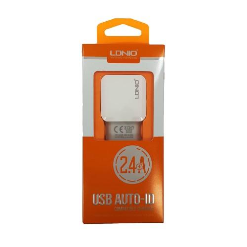 СЗУ-адаптер LDNIO DL-220 + microUSB-кабель 2.1A 2USB