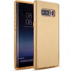 Силикон Glitter Samsung Galaxy Note 8 (N950) (Золотой)