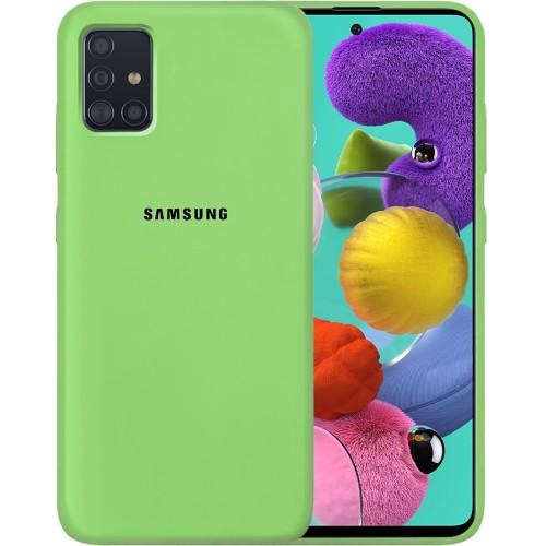 Силикон Original Case Samsung Galaxy A51 (2020) (Зелёный)