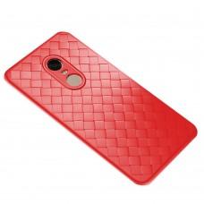 Накладка Weaving Leather Xiaomi Redmi 5 Plus (красный)