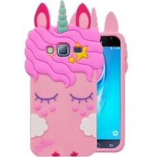 Силикон Little Pony Samsung Galaxy J3 (2016) J320 (Единорог, Розовый)