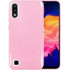 Силикон Glitter Samsung Galaxy A10 / M10 (2019) (Розовый)