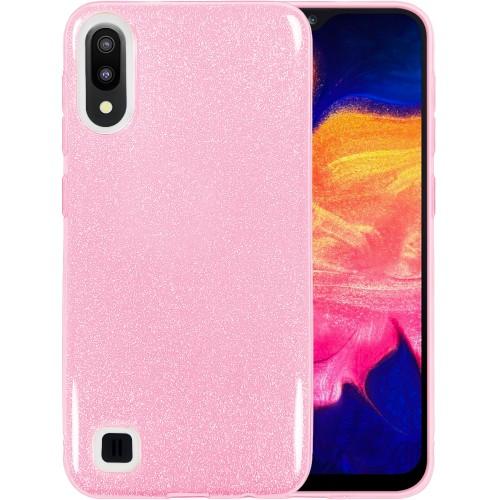 Силиконовый чехол Glitter Samsung Galaxy A10 / M10 (2019) (Розовый)