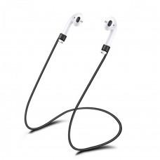 Силиконовый шнурок для Apple Airpods 55cm (Чёрный)