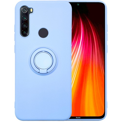Чехол Ring Silicone Case Xiaomi Redmi Note 8 (Голубой)