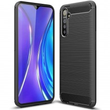 Силикон Polished Carbon Xiaomi Realme 6 Pro (Чёрный)