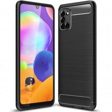 Силикон Polished Carbon Samsung Galaxy A31 (2020) (Чёрный)