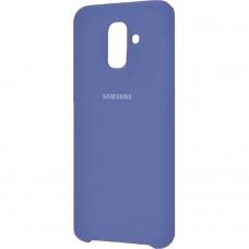 Силиконовый чехол Original Case Samsung Galaxy A6 Plus (2018) A605 (Тёмно-синий)