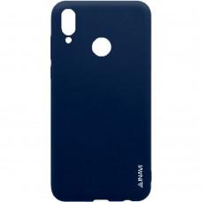 Силиконовый чехол iNavi Color Huawei Honor 8X (Темно-синий)