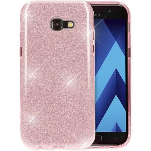 Силикон Glitter Samsung Galaxy A3 (2017) A320 (Розовой)