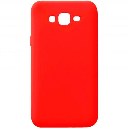 Силиконовый чехол iNavi Color Samsung Galaxy J7 (2015) J700 (красный)