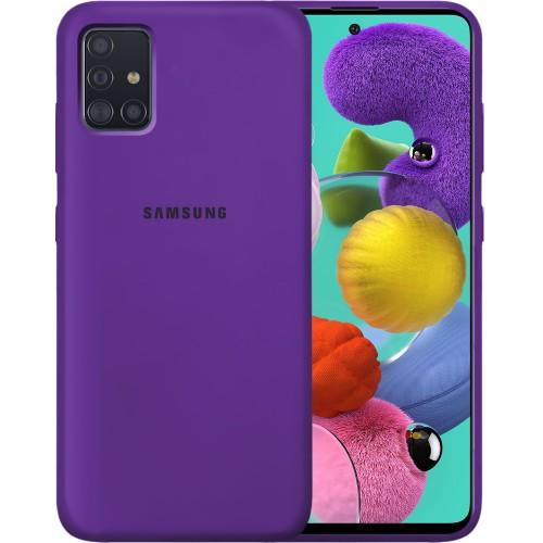 Силикон Original 360 Case Logo Samsung Galaxy A51 (2020) (Фиолетовый)