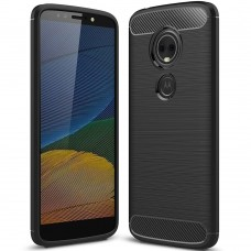 Силикон Polished Carbon Motorola E5 (Чёрный)
