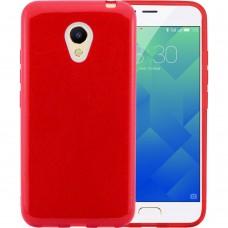 Силикон Glitter Meizu M5 (Красный)