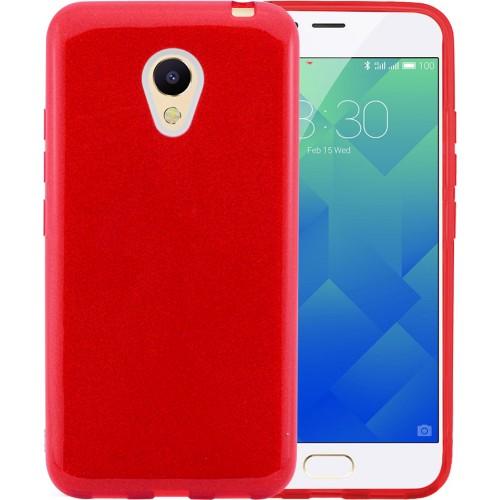 Силиконовый чехол Glitter Meizu M5 (Красный)