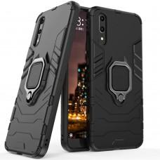 Бронь-чехол Ring Armor Case Huawei P20 (чёрный)