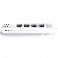 Сетевой удлинитель MOXOM ST05 (6 USB, 2 Type-C 3.4A, 4 розетки) (Белый)