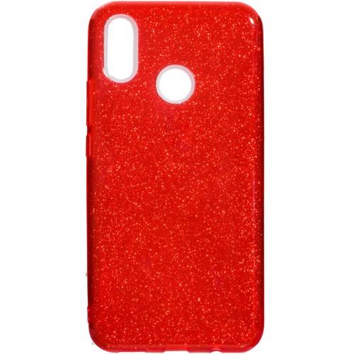 Силиконовый чехол Glitter Huawei P Smart Plus / Nova 3i (красный)