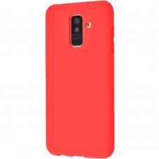 Силиконовый чехол iNavi Color Samsung Galaxy A6 Plus (2018) A605 (красный)