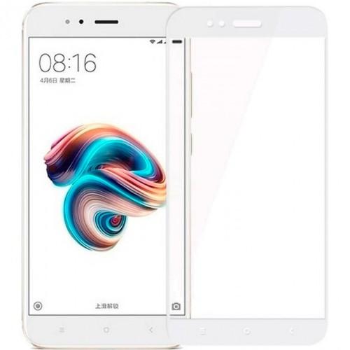 Стекло 5D Xiaomi Mi5X / Mi A1 White