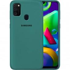Силикон Original Case Samsung Galaxy M21 (2020) (Тёмно-зелёный)