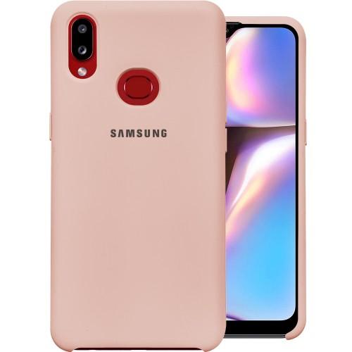 Силиконовый чехол Original Case Samsung Galaxy A10s (2019) (Пудровый)