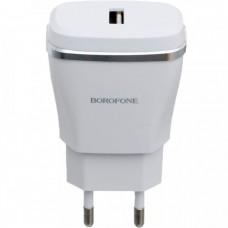 СЗУ-адаптер USB Borofone BA2 2 USB 2.4A (Белый)