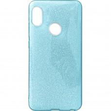 Силикон Glitter Xiaomi Redmi Note 5 / Note 5 Pro (Голубой)