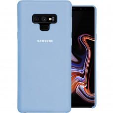Силикон Original Case Logo Samsung Galaxy Note 9 (Голубой)