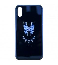 Накладка Luminous Glass Case Apple iPhone XR (Black Panther)