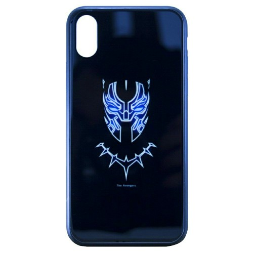 Накладка Luminous Glass Case Apple iPhone XR (Black Panther)