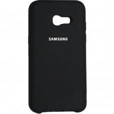 Силиконовый чехол Original Case Samsung Galaxy A7 (2017) A720 (Чёрный)
