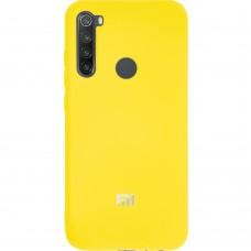Силикон Original Case (HQ) Xiaomi Redmi Note 8 (Желтый)