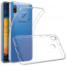 Силиконовый чехол WS Samsung Galaxy A20 (2019) (прозрачный)