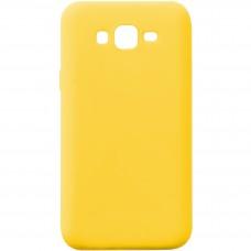 Силикон iNavi Color Samsung Galaxy J7 (2015) J700 (желтый)