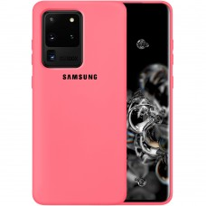 Силикон Original Case Samsung Galaxy S20 Ultra (Клубничный)