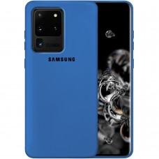 Силикон Original Case Samsung Galaxy S20 Ultra (Кобальт)
