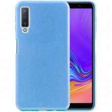 Силикон Glitter Samsung Galaxy A7 (2018) A750 (голубой)
