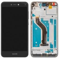 Дисплейный модуль Huawei P8 Lite (2017) /  P9 Lite (2017) / Honor 8 Lite / Nova Lite (черн) с рамкой