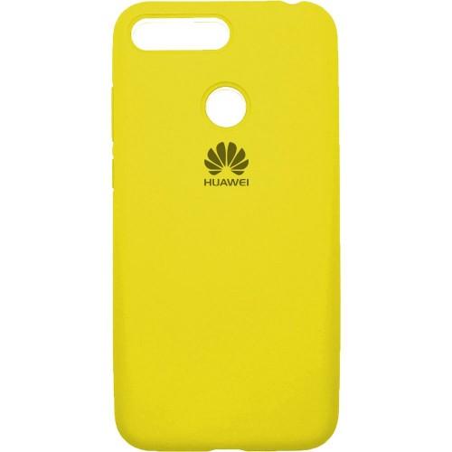 Силиконовый чехол Original Case Huawei Y6 Prime (2018) / Honor 7A Pro (Жёлтый)