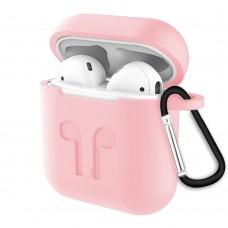 Чехол для наушников Full Silicone Case Apple AirPods (14) Pink