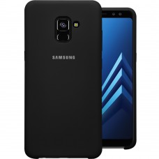 Силикон Original Case Samsung Galaxy A8 Plus (2018) A730 (Чёрный)