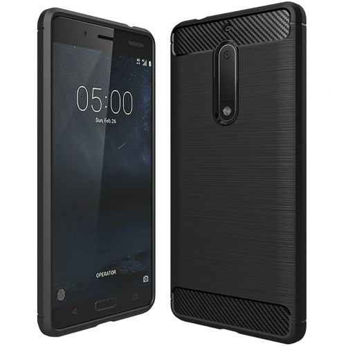 Силикон Polished Carbon Nokia 5 (Чёрный)