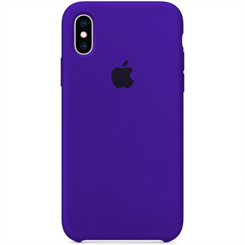 Силикон Original Case Apple iPhone X / XS (02) Ultra Violet