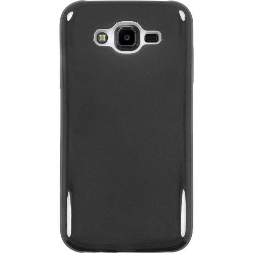 Силиконовый чехол Glitter Samsung Galaxy J7 (2015) J700 (черный)