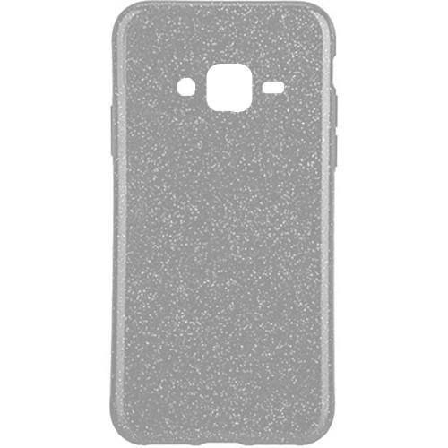 Силиконовый чехол Glitter Samsung Galaxy J7 (2015) J700 (серебрянный)