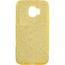 Силиконовый чехол Glitter Samsung J2 (2018) J250 (Золотой)