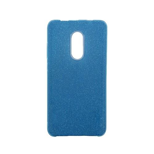 Силикон Glitter Xiaomi Redmi Note 4x (синий)
